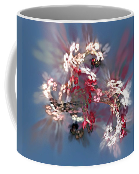 Floral Coffee Mug featuring the digital art Abstract Floral Fantasy by David Lane