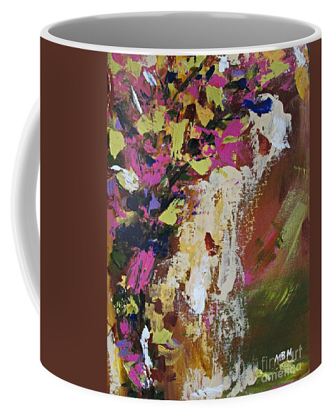 Abstract Coffee Mug featuring the painting Abstract Floral Study by Mary Mirabal