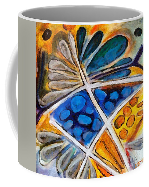 Flower Coffee Mug featuring the painting Abstract Flower by Dragica Micki Fortuna