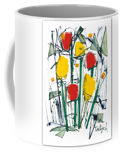 Abstract Coffee Mug featuring the painting Abstract Flower Sixteen by Lynne Taetzsch