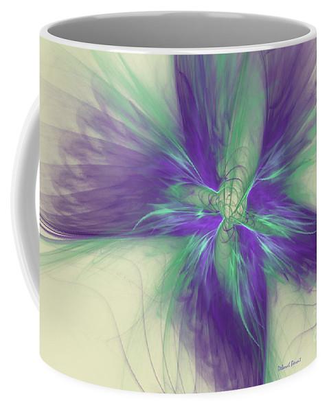Digital Coffee Mug featuring the digital art Abstract Flower Sway by Deborah Benoit