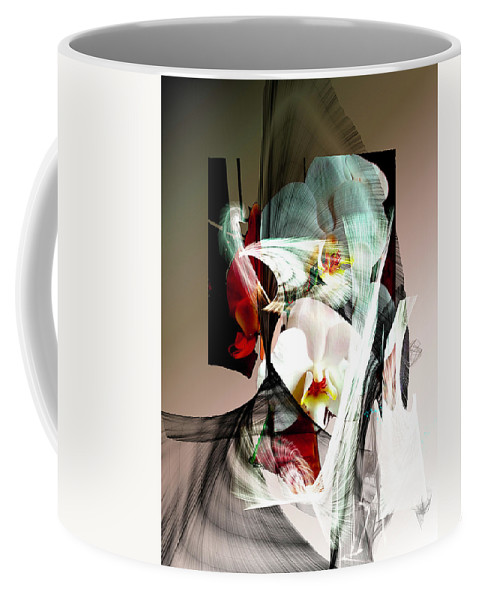 Abstract Flowers Of Love #1 Coffee Mug featuring the digital art Abstract Flowers Of Love #1 by Jim Chaput