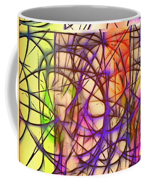 Abstract Coffee Mug featuring the painting Abstract Fun 11 by Marian Palucci-Lonzetta
