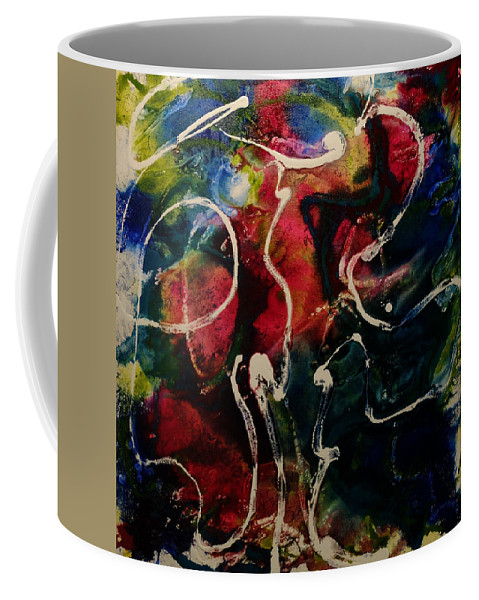 Abstract Coffee Mug featuring the painting Spirits Moves Me by Gail Goren