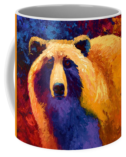 Western Coffee Mug featuring the painting Abstract Grizz II by Marion Rose