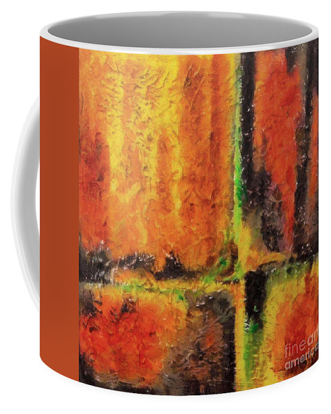Abstract Coffee Mug featuring the mixed media abstract I by Dragica Micki Fortuna