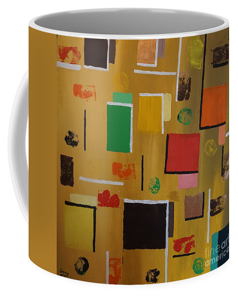 Abstract Coffee Mug featuring the painting Abstract I by Jimmy Clark