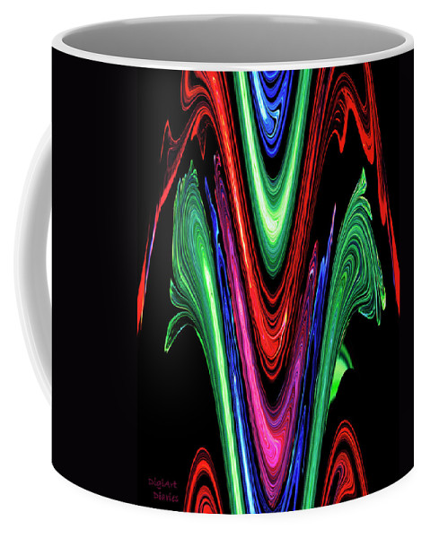 Abstract Coffee Mug featuring the digital art Abstract II by DigiArt Diaries by Vicky B Fuller