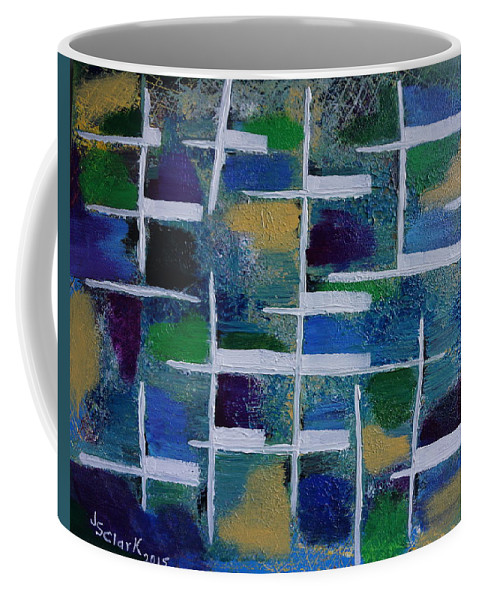 Abstract Coffee Mug featuring the painting Abstract II by Jimmy Clark