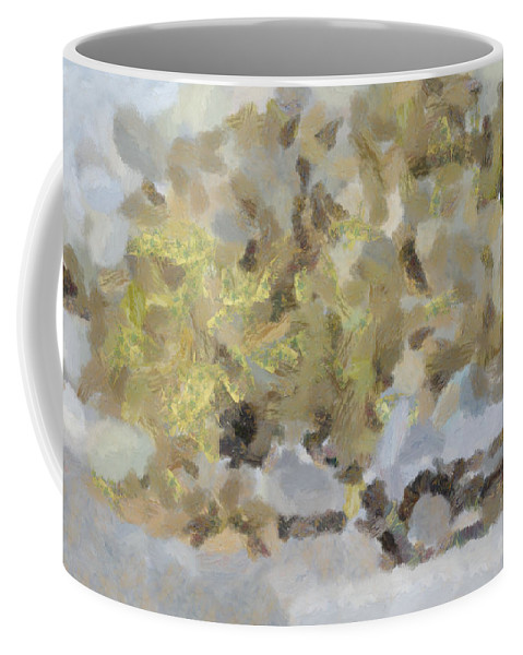 Abstract Coffee Mug featuring the photograph Abstract Image Of Car Passing Through A Dust Storm by Ashish Agarwal