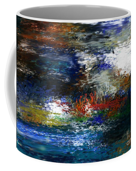 Abstract Coffee Mug featuring the digital art Abstract Impression 5-9-09 by David Lane