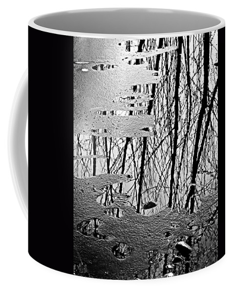 Ice Coffee Mug featuring the photograph Abstract In Ice by Marilyn Hunt