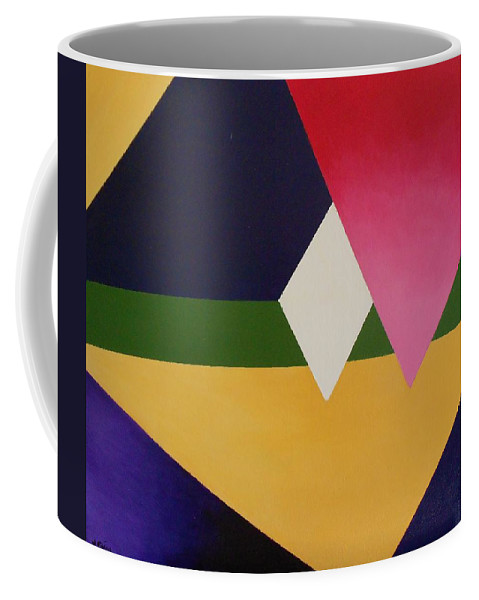 Abstract Coffee Mug featuring the painting Abstract by Jamie Frier