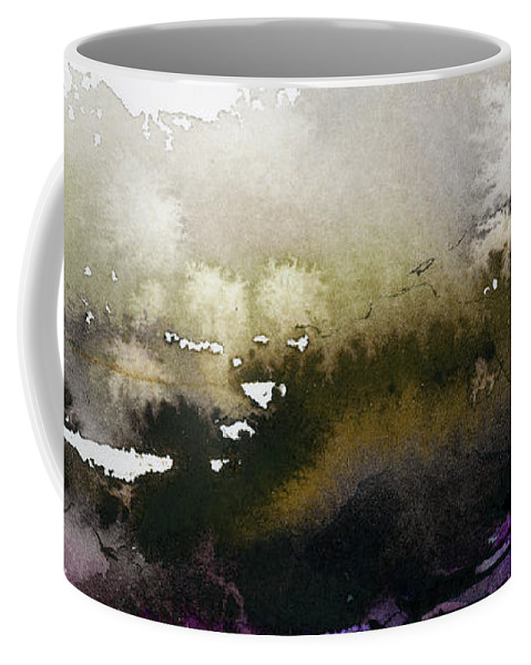 Abstract Coffee Mug featuring the painting Abstract Landscape Brown Earth by Ginette Callaway