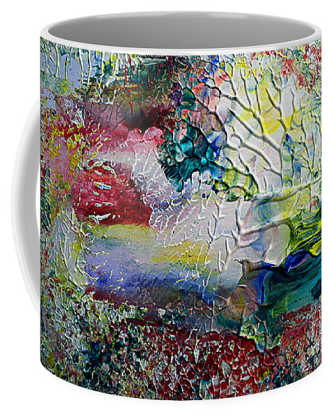 Flowers Coffee Mug featuring the painting Abstract Landscape by Nelu Gradeanu