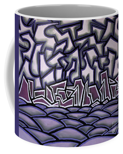 Landscape Coffee Mug featuring the painting Abstract Landscape by Thomas Valentine