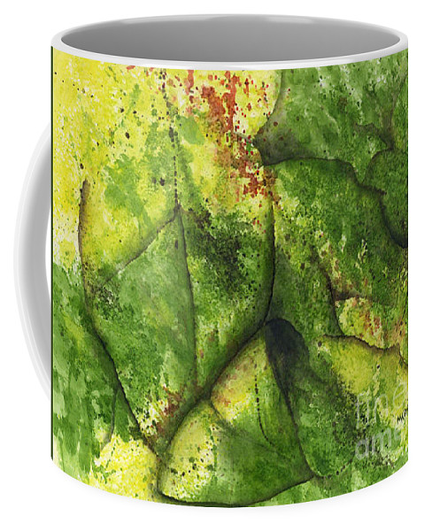 Leaves Coffee Mug featuring the painting Abstract Leaf by Mary Tuomi