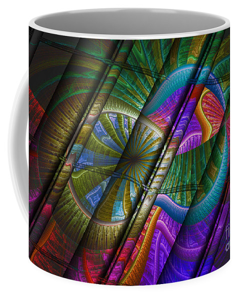 Digital Coffee Mug featuring the digital art Abstract Levels Of Color by Deborah Benoit