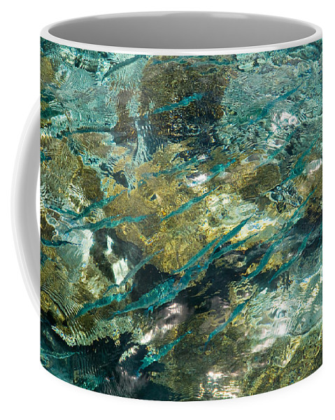Jenny Rainbow Fine Art Photography Coffee Mug featuring the photograph Abstract Of The Underwater World. Production By Nature by Jenny Rainbow