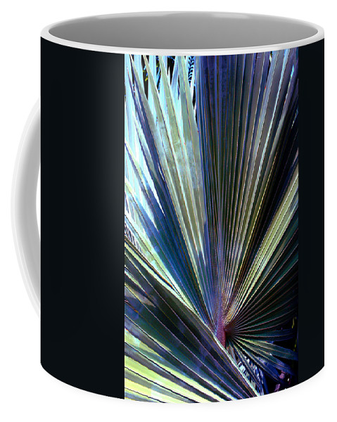 Palm Leaf Coffee Mug featuring the photograph Abstract Palm Leaf by Susanne Van Hulst