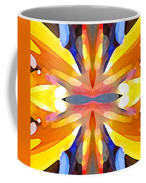 Abstract Art Coffee Mug featuring the painting Abstract Paradise by Amy Vangsgard