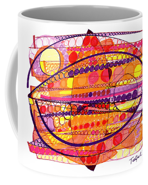 Abstract Art Coffee Mug featuring the drawing Abstract Pen Drawing Fourteen by Lynne Taetzsch