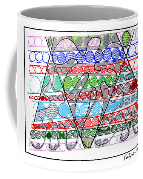 Abstract Art Coffee Mug featuring the drawing Abstract Pen Drawing Thirteen by Lynne Taetzsch