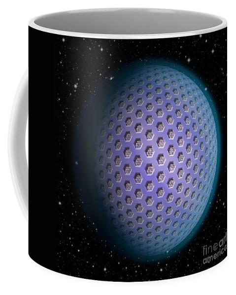 Planet Coffee Mug featuring the digital art Abstract Planet by Miroslav Nemecek
