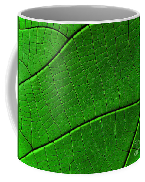 Abstract Coffee Mug featuring the digital art Abstract Rain Forest by Yali Shi