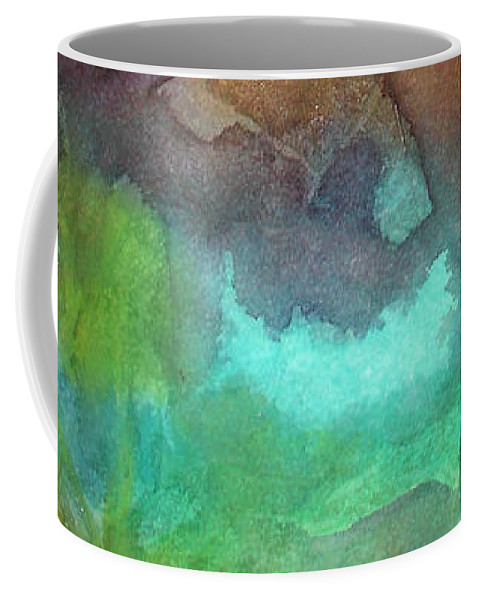 Abstract Coffee Mug featuring the painting Abstract Reflection by Allison Ashton