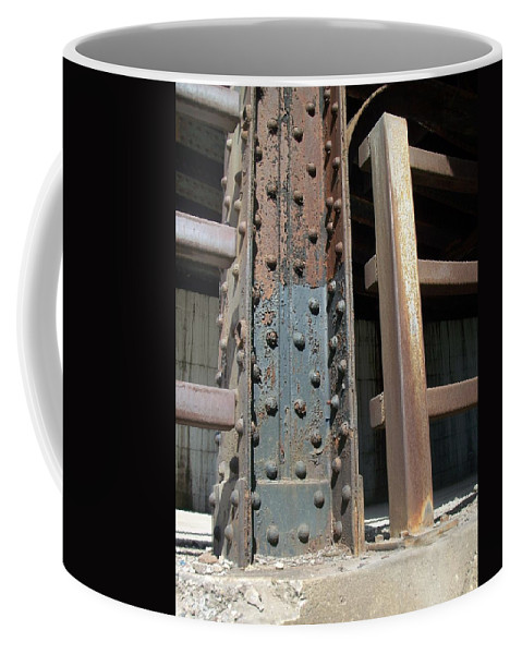 Urban Coffee Mug featuring the photograph Abstract Rust 1 by Anita Burgermeister