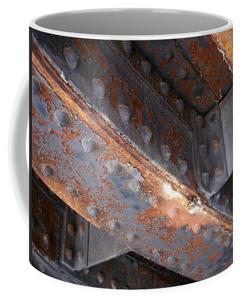 Urban Coffee Mug featuring the photograph Abstract Rust 3 by Anita Burgermeister