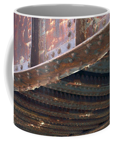 Urban Coffee Mug featuring the photograph Abstract Rust 4 by Anita Burgermeister