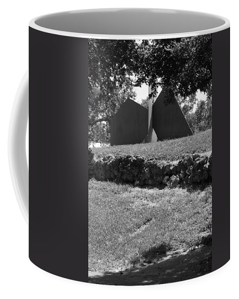 Black And White Coffee Mug featuring the photograph Abstract Sculpture by Rob Hans