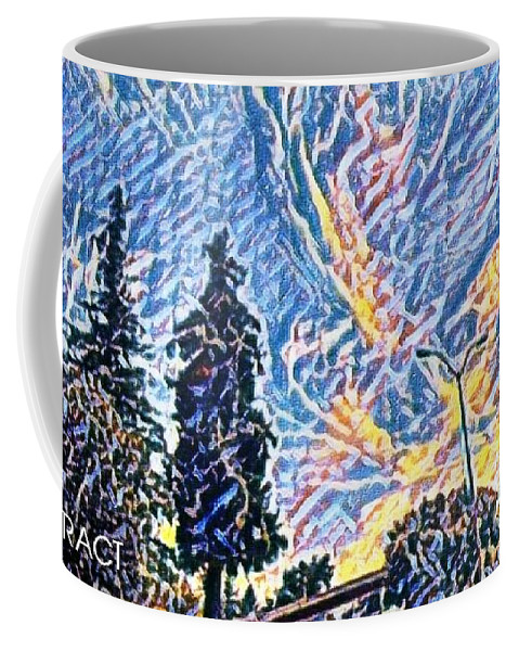 Mixedmedia Coffee Mug featuring the mixed media Abstract Sky by Steven Wills