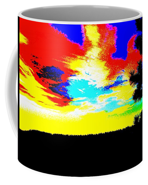 Abstract Coffee Mug featuring the digital art Abstract Sky by Will Borden
