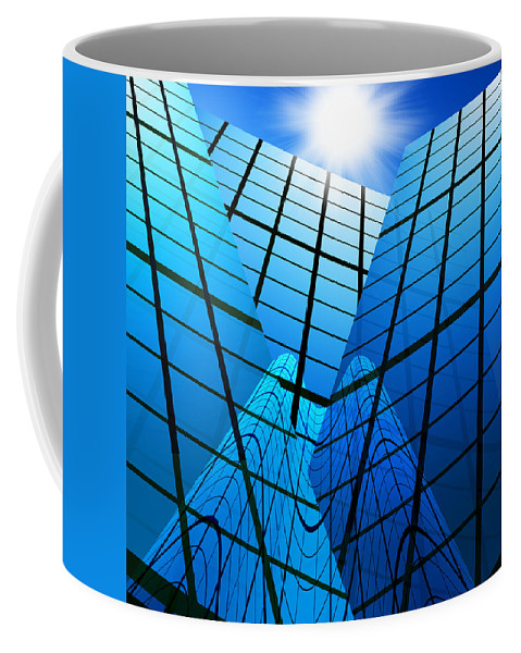 Abstract Coffee Mug featuring the photograph Abstract Skyscrapers by Setsiri Silapasuwanchai