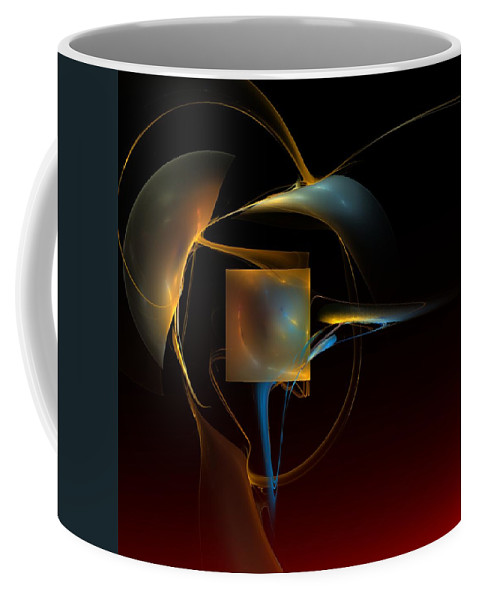 Abstract Coffee Mug featuring the digital art Abstract Still Life 012211 by David Lane