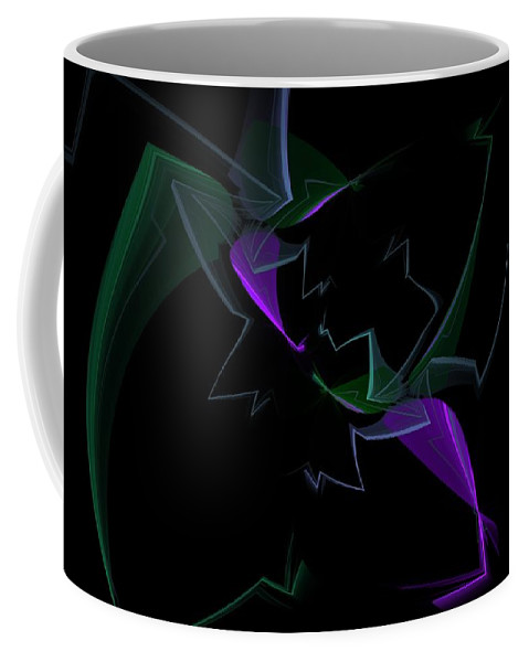 Digital Painting Coffee Mug featuring the digital art Abstract Still Life by David Lane