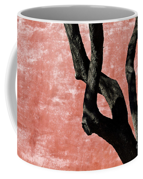 Abstract Coffee Mug featuring the photograph Abstract Tree Trunk by Ray Laskowitz - Printscapes
