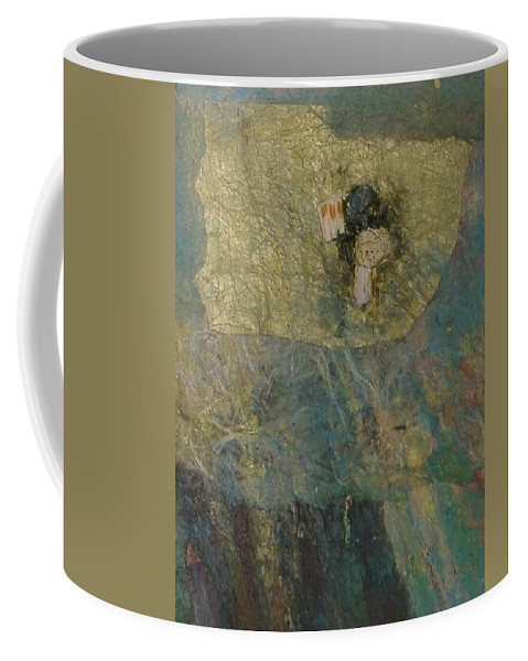 Abstract Coffee Mug featuring the mixed media Abstract Two by Pat Snook