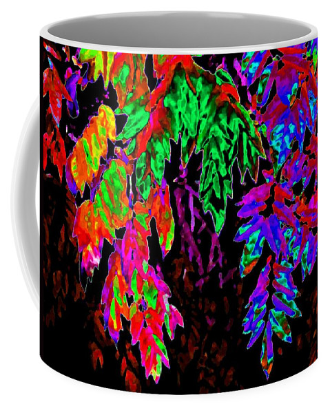 Abstract Coffee Mug featuring the digital art Abstract Wisteria by Will Borden