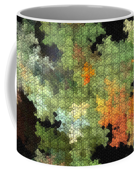Digital Coffee Mug featuring the mixed media Abstract World by Deborah Benoit