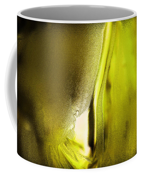 Yellow Coffee Mug featuring the photograph Abstract Yellow by Jeff Swan