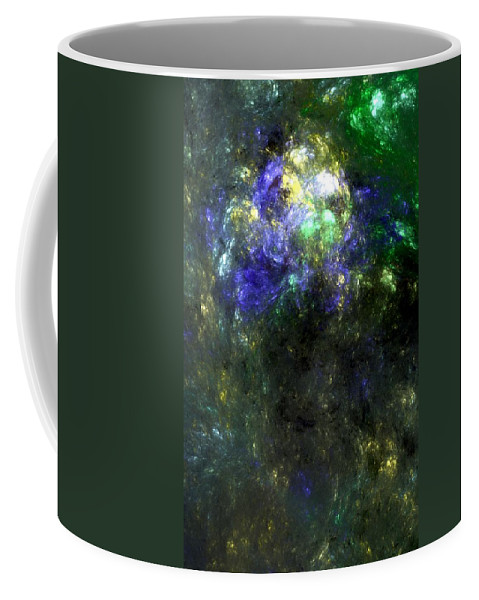 Abstract Expressionism Coffee Mug featuring the digital art Abstract08-14-09 by David Lane