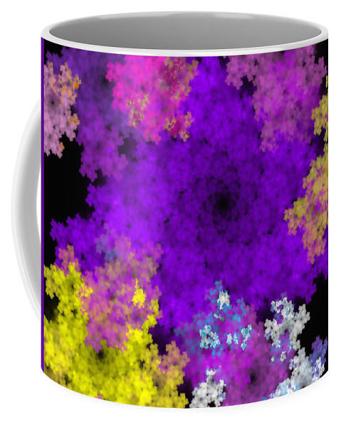 Abstract Digital Painting Coffee Mug featuring the digital art Abstract10-16-09-1 by David Lane