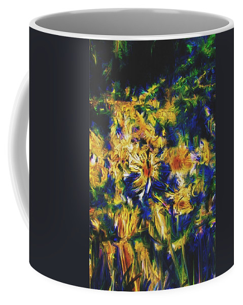 Abstract Digital Painting Coffee Mug featuring the digital art Abstract11-06-09 by David Lane