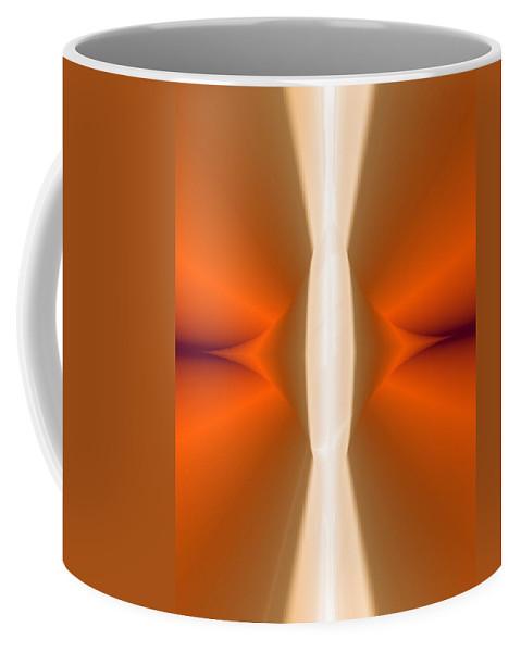Digital Painting Coffee Mug featuring the digital art Abstract309b by David Lane