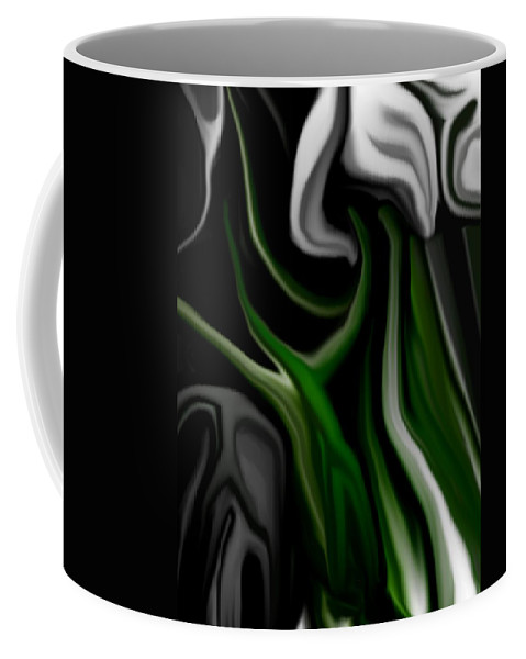 Abstract Coffee Mug featuring the digital art Abstract309h by David Lane