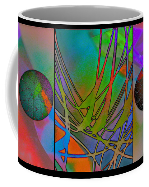 Abstraction Coffee Mug featuring the painting Abstraction by Darin Baker